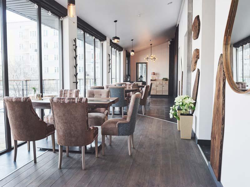 Objektbereich Restauranteinrichtung Tischlerei Lirsch